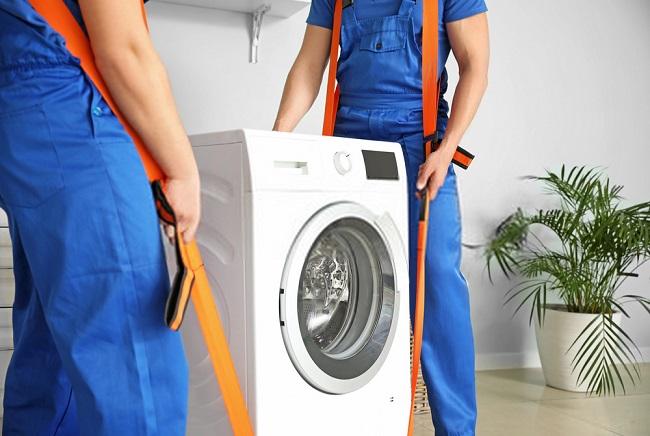washing machine moving